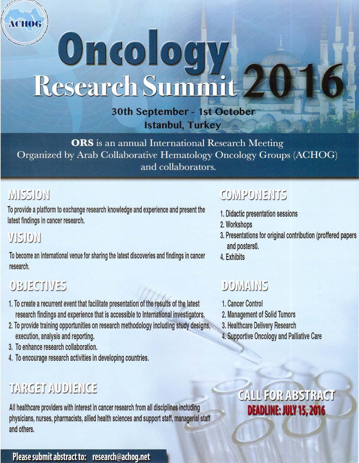 Oncology Research Summit 2016